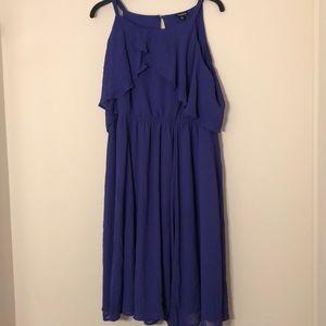 Torrid purple flowy dress